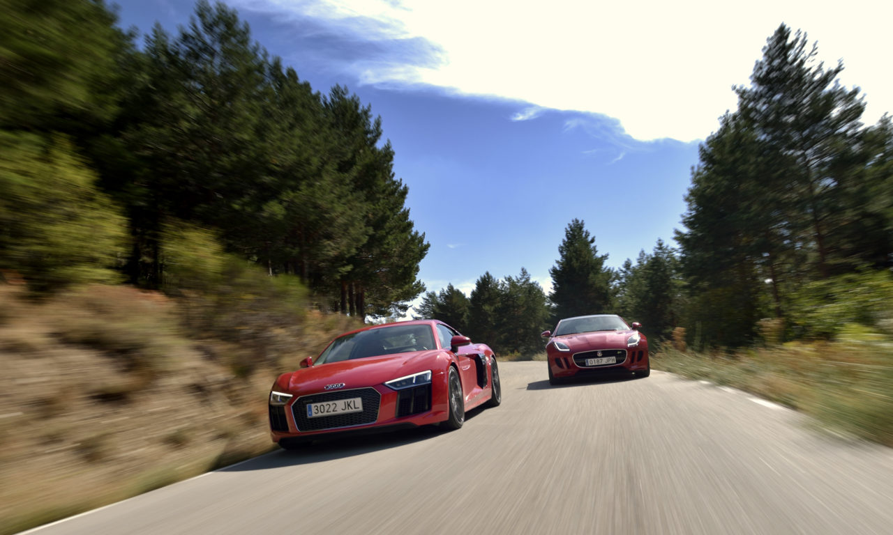 COMPARATIVA AUDI R8 V10 vs JAGUAR F-TYPE R