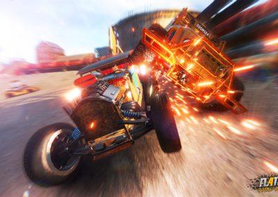 FlatOut 4: Total Insanity es un juego de conducción y acción con destrucción como aliciente