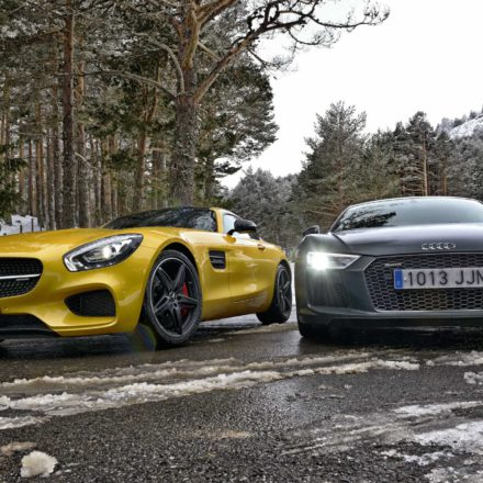 COMPARATIVA AUDI R8 V10 plus vs AMG GTs