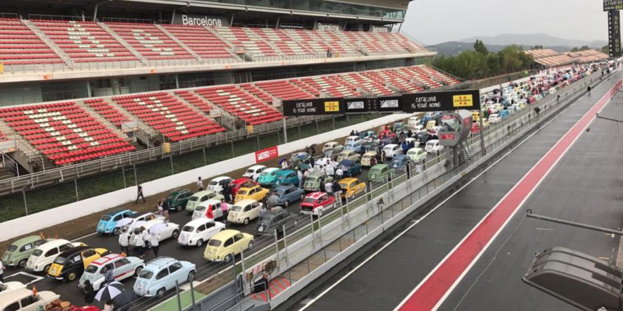 Seat 600 consigue el récord Guinness en Montmeló